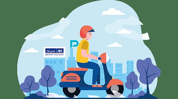 bharti axa two wheeler insurance